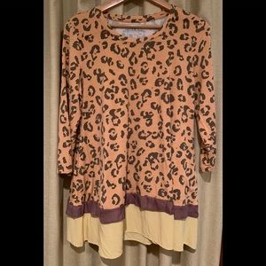 LOGO by Lori Goldstein Animal Print Tunic/Dress